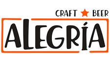 logotipo cerveza alegría